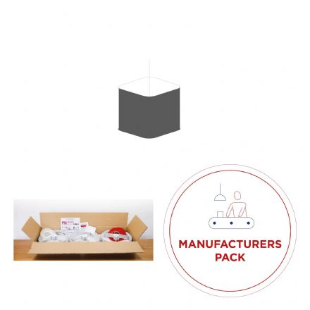 Manufacturing Pack - 50  x  20cm Rounded Square Lampshades